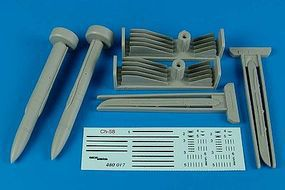 Aerobonus Ch58 (AS11 Kilter) Air-to-Surface Missiles Plastic Model Aircraft Accessory 1/48 #480017