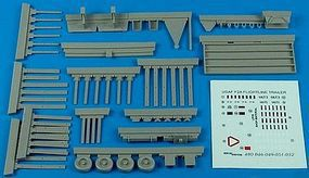 Aerobonus USAF F2A Flightline Trailer Plastic Model Aircraft Accessory 1/48 Scale #480049