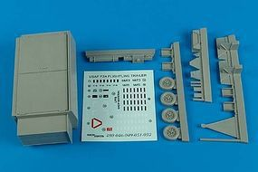 Aerobonus USAF F2A Flightline Maintenance Shop Trailer Plastic Model Aircraft Accessory 1/48 #480051