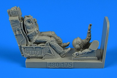 Aerobonus F16 USAF Fighter Pilot e/Ejection Seat -- Plastic Model Aircraft Accessory -- 1/48 -- #480175