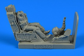 Aerobonus F16 USAF Fighter Pilot e/Ejection Seat Plastic Model Aircraft Accessory 1/48 #480175