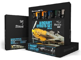 Abteilung Aircraft Effects Weathering Oil Paint Set (6 Colors) 20ml Tubes