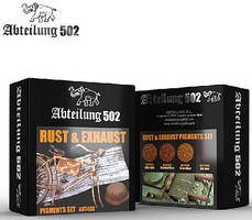 Abteilung Rust & Exhaust Pigment Set (4 Colors) 20ml Bottles