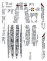 Acreation Battlestar Galactica BS75 Deluxe Aztec Decals Plastic Model Spaceship Decals 1/4105 #146
