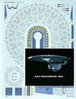Acreation 1/1000 Star Trek USS Enterprise Excelsior Aztec Decals for AMT