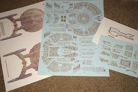 Acreation 1/1000 Star Trek USS Enterprise NX01 Refit Aztec Decals for PLL