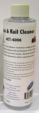 Aero-Car Technology Rail & Track Cleaner 8oz. Bottle -- Model Train Track Accessory -- #6006