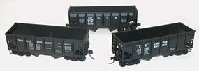 Accurail 55-Ton Panel-Side Two-Bay Hopper 3-Pack - Kit HO Scale Freight Car #1205