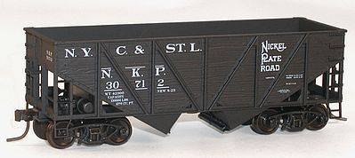 Accurail 55-Ton Wood-Side 2-Bay Hopper N.K.P. #30712 -- HO Scale Model Train Freight Car Kit -- #1209