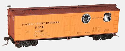 Accurail 40' Wood Reefer 2-Pack - Kit - Pacific Fruit Express -- HO Scale Model Train Freight Car -- #1220
