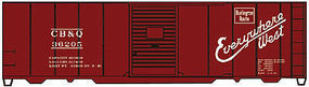 Accurail 40 Steel Single Door Boxcar CB&Q HO Scale Model Train Freight Car Kit #12231