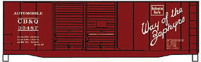 Accurail 40 Steel Double Door Boxcar CB&Q HO Scale Model Train Freight Car Kit #12232