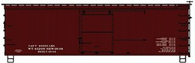 Accurail 36 Double Sheathed Wood Boxcar Data Only Kit HO Scale Model Train Freight Car #1398