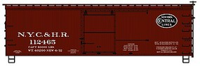 Accurail 36 Double Sheathed Wood Boxcar w/Steel Roof, Wood Ends, Straight Underframe New York Central & Hudson River
