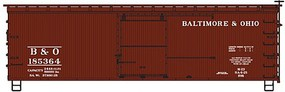 Accurail HO Baltimore & Ohio 36 Dbl Sheath Wood Boxcar w/Wood Ends