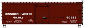 Accurail 36 Double Sheathed Wood Boxcar w/Steel Roof, Wood Ends, Straight Underframe Missouri Pacific