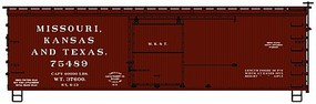 Accurail Ho 36Ds Wood Boxcar B&A