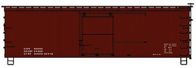 Accurail HO Data Only 1940s Lettering 36 Dbl Sheath Wood Boxcar w/Steel Roof, Wood Ends & Fishbelly Underframe