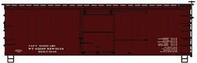 Accurail 36 Double Sheathed Wood Boxcar Data Only Kit HO Scale Model Train Freight Car #1798
