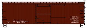 Accurail Data Only Oxide 36 Double Sheath Wood Boxcar Kit HO Scale Model Train Freight Car #1799