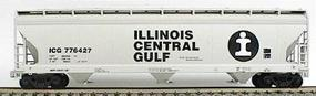 Accurail 47 3-Bay Covered Hopper Kit Illinois Central Gulf HO Scale Model Train Freight Car #2009