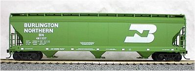 Accurail 47' 3-Bay Covered Hopper Burlington Northern -- HO Scale Model Train Freight Car -- #2015
