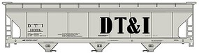 Accurail ACF 47 3-Bay Center-Flow Covered Hopper - Kit Detroit, Toledo & Ironton #10358 Igray, Billboard DT&I)
