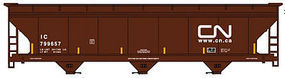 Accurail ACF 3-Bay Hopper Canadian National Kit (w/mks) HO Scale Model Train Freight Car #2102