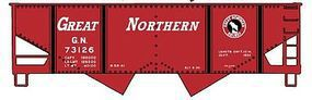 Accurail 55-Ton 2-Bay Hopper 3-Pack - Kit - Great Northern HO Scale Model Train Freight Car #23025