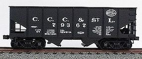 Accurail 55-Ton 2-Bay Hopper - Kit - Undecorated HO Scale Model Train Freight Car #2400