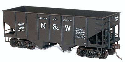 Accurail USRA 55-Ton 2-Bay Coal Hopper Kit - Norfolk & Western -- HO Scale Model Train Freight Car -- #2420
