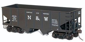 Accurail USRA 55-Ton 2-Bay Coal Hopper Kit - Norfolk & Western HO Scale Model Train Freight Car #2420