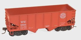 Accurail 55-Ton 2-Bay Open Hopper Kit Western Maryland #10890 HO Scale Model Train Freight Car #25302