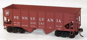 Accurail 2-Bay 55-Ton Open Hopper Pennsylvania Railroad #220297 HO Scale Model Train Freight Car #25441