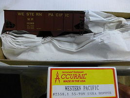 Accurail USRA 55 ton Twin Hopper Western Pacific Kit HO Scale Model Train Freight Car #25581