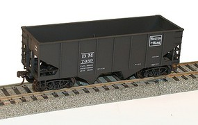 Accurail USRA 55-Ton 2-Bay Open Hopper - Kit Boston & Maine #7089 (black, Rectangle Logo)