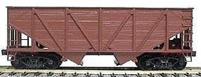 Accurail Undecorated 55-Ton Woodside Twin Hopper HO Scale Model Train Freight Car #2700