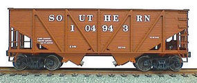 Accurail 55-Ton Wood Side Twin Hopper - Southern (Oxide) HO Scale Model Train Freight Car #2711
