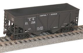 Accurail 55-Ton Wood-Side 2-Bay Hopper Central of Georgia HO Scale Model Train Freight Car #2722