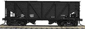 Accurail 55-Ton Wood Side Twin Hopper - Data Only (black) HO Scale Model Train Freight Car #2797