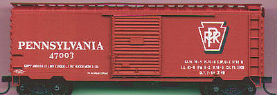 Accurail Pennsylvania 40' Steel PS1 Boxcar -- HO Scale Model Train Freight Car -- #3421