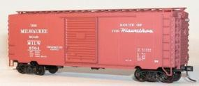 Accurail 40 PS-1 Steel Boxcar - Kit (Plastic) - Milwaukee Road HO Scale Model Train Freight Car #3442