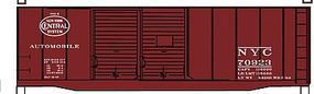 Accurail 40 Double-Door Boxcar - Kit - New York Central HO Scale Model Train Freight Car #36031