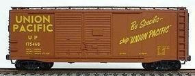 Accurail 40 AAR Double-Door Boxcar Kit (Plastic) Union Pacific HO Scale Model Train Freight Car #3605