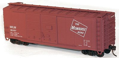 Accurail 40' Double-Door Boxcar Kit Milwaukee Road #16057 -- HO Scale Model Train Freight Car -- #36161