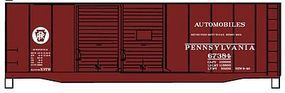 Accurail Pennsylvania 40 AAR Double Door Steel Boxcar Kit HO Scale Model Train Freight Car #3639
