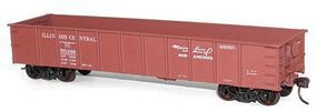 Accurail 41 Steel Gondola - Kit (Plastic) - Illinois Central HO Scale Model Train Freight Car #3745