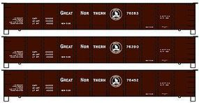 Accurail 41 Steel Gondola Great Northern (3 Pack) HO Scale Model Train Freight Car Kit #37624