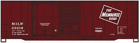 Accurail 40 Combo Door Steel Boxcar Milwaukee Road HO Scale Model Train Freight Car #38042