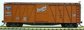 Accurail 40 Wood Outside-Braced Boxcar Kit C,B&Q HO Scale Model Train Freight Car #4101
